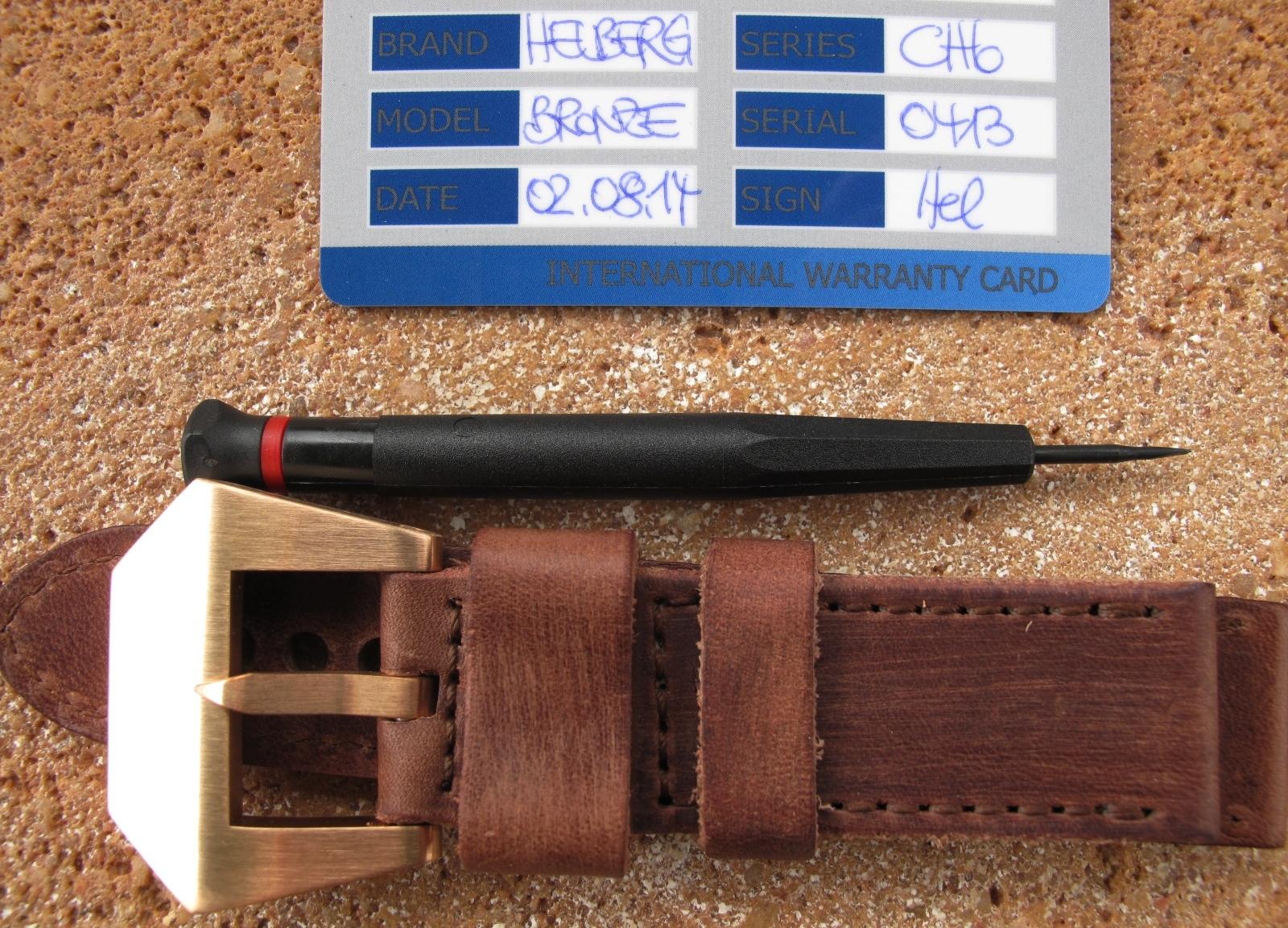 Erledigt] Helberg CH6 Bronze - Braunes Blatt, Bronze-Lünette ...