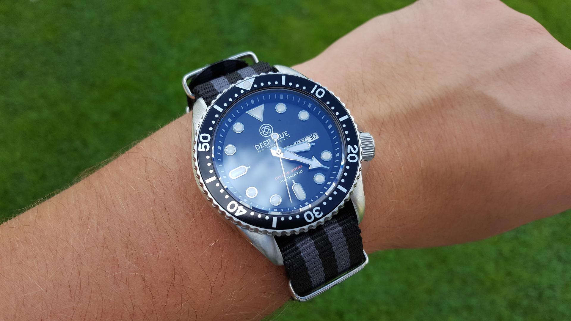 [Erledigt] Deep Blue Nato Diver 300m Black - UhrForum