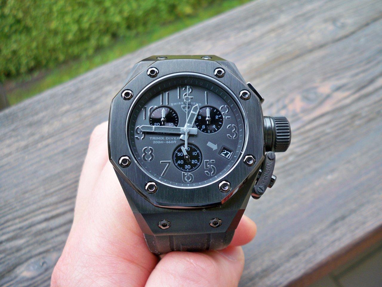 Watches Swiss Legend Tri Mix : Swiss legend trimix diver sl blk all black uhrforum