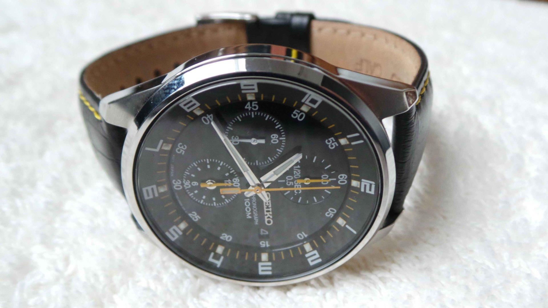 Erledigt seiko quarz herren armbanduhr chronograph sndc89p2