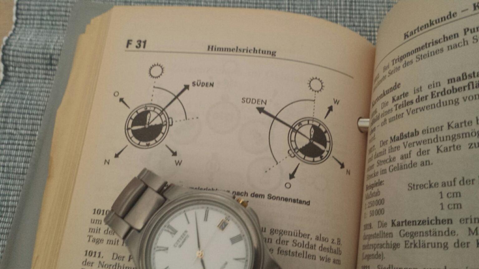 jede analoge uhr ist ein kompass uhrforum seite 3. Black Bedroom Furniture Sets. Home Design Ideas