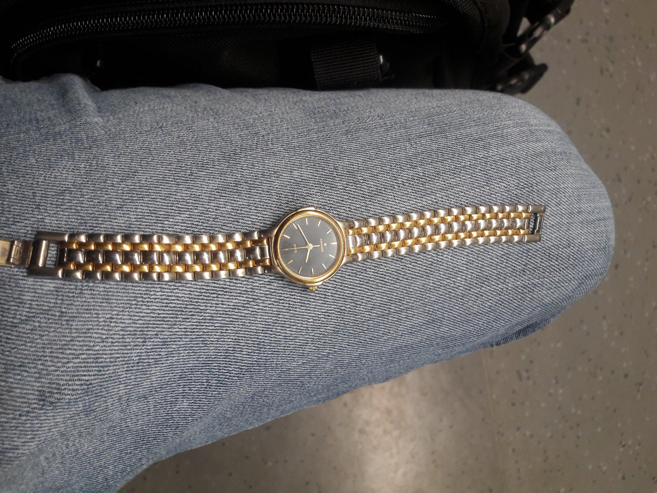 Uhrenbestimmung Junghans Damenuhr Quarz bicolor Edelstahl