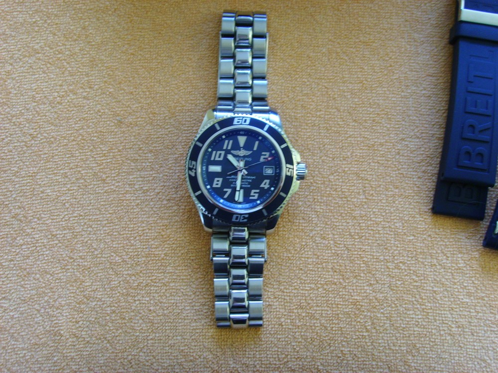 Breitling superocean limited edition blue.