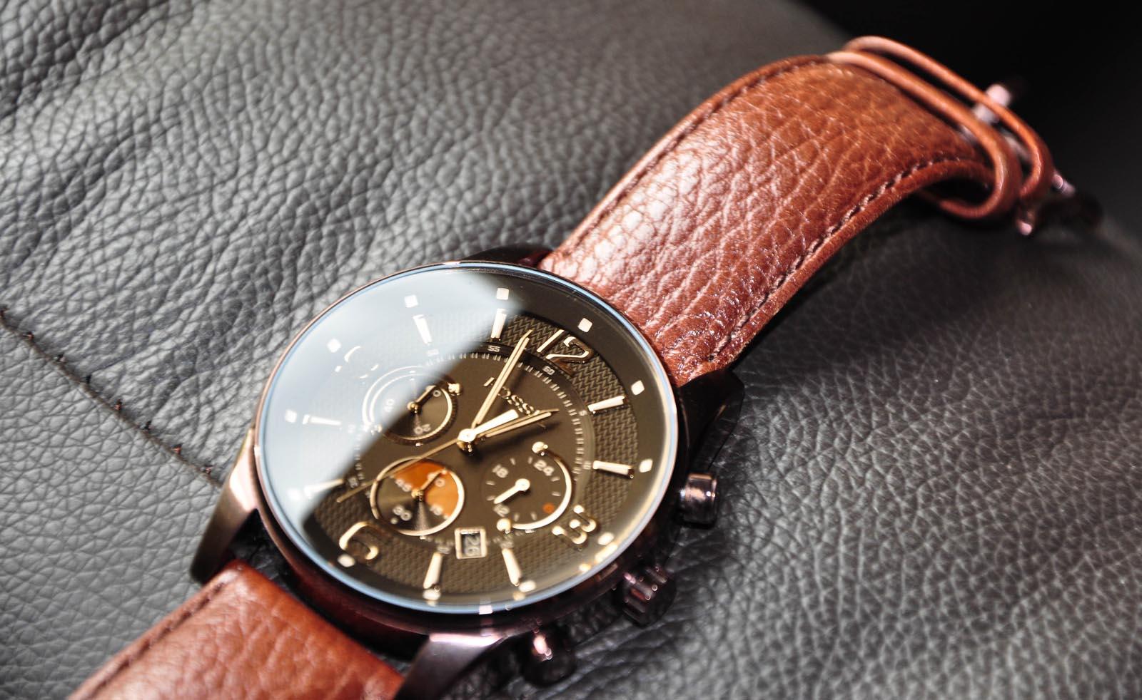 erledigt fossil herren armbanduhr leder braun fs4386. Black Bedroom Furniture Sets. Home Design Ideas