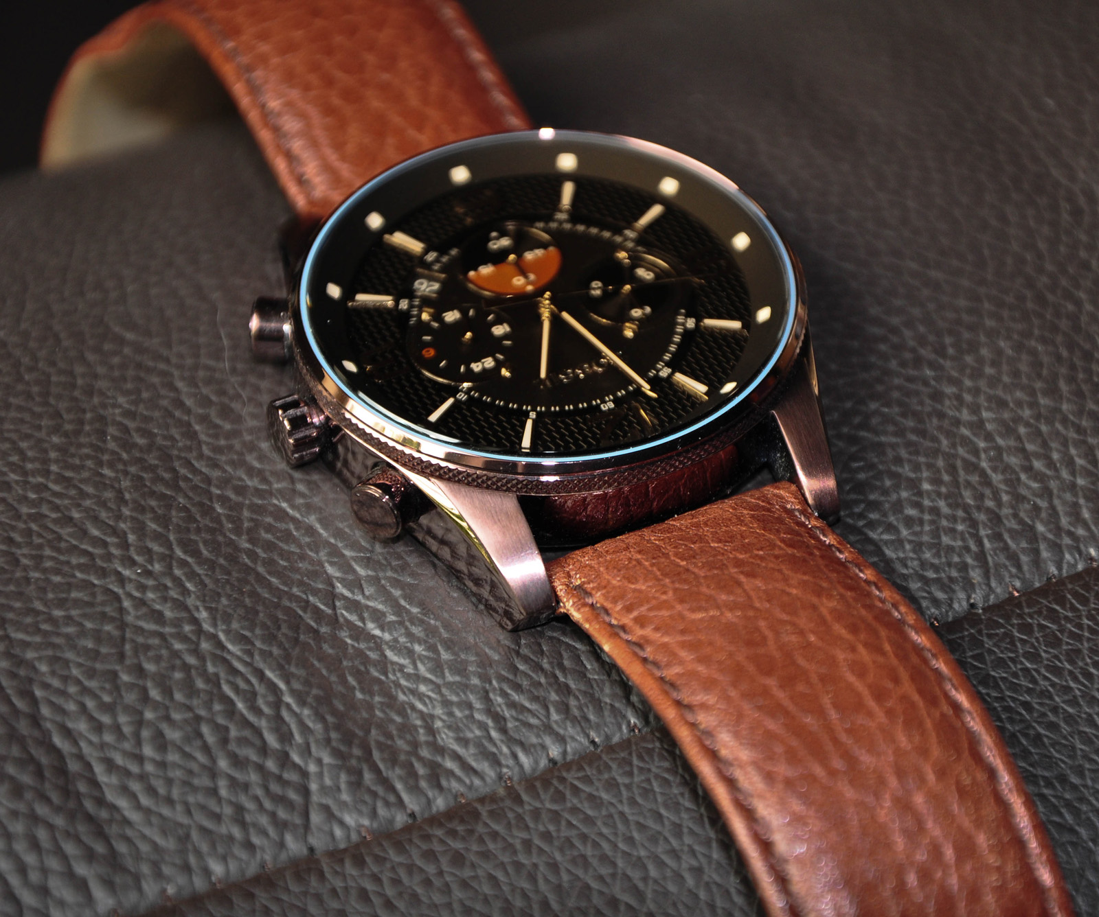 Leder Armbanduhren Fossil