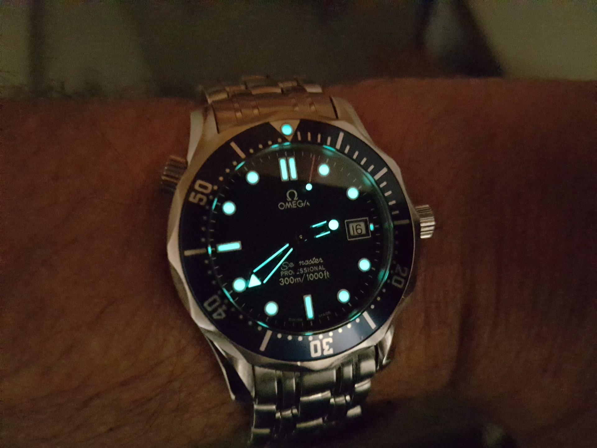 Erledigt Omega Seamaster 300 M Mid Size Quartz Blau Ref