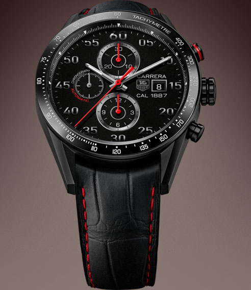 tag heuer carrera calibre 1887 racing chronograph 43 mm. Black Bedroom Furniture Sets. Home Design Ideas