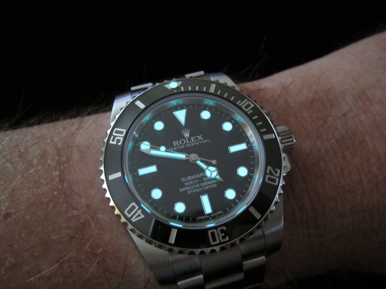 Celebrity submariner rolex no date