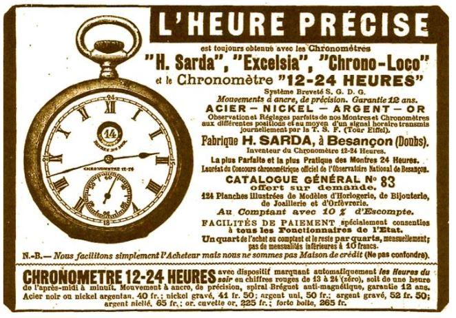 Anzeige 1912 Chronometre 12-24-Heures- Bild 7.JPG