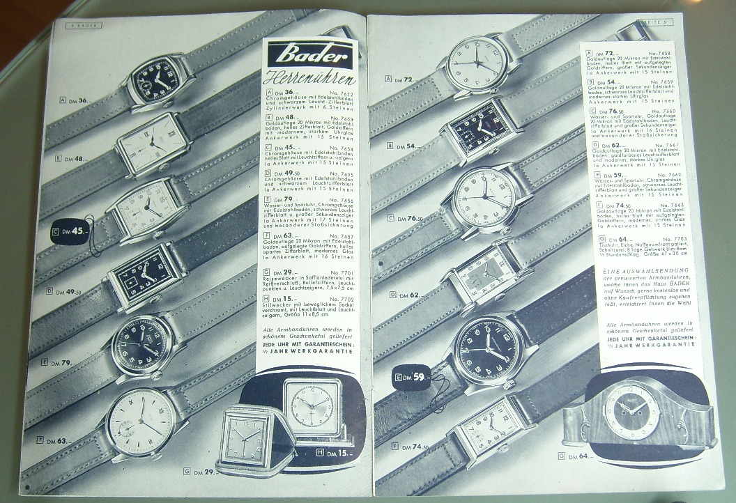Uhr von Bader mit HP 103 - hat noch jemand eine? - UhrForum