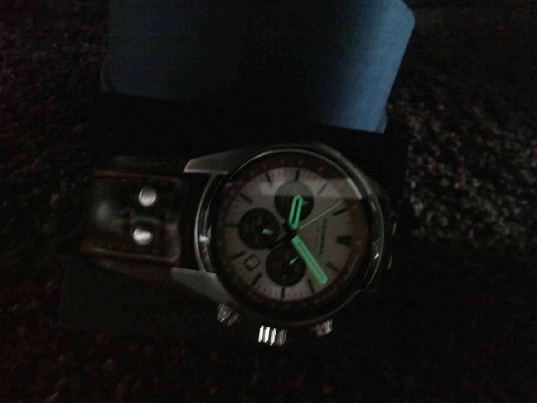 fossil herren armbanduhr sport chronograph leder braun ch2565