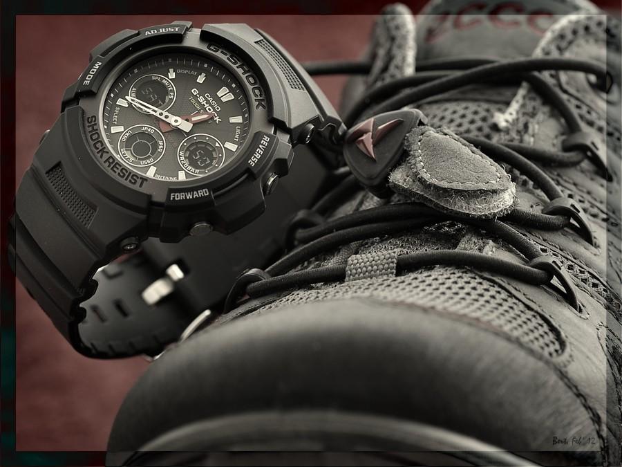 Meine häßlichste Uhr Casio AWG1011AER  UhrForum -> Waschmaschine Nachts