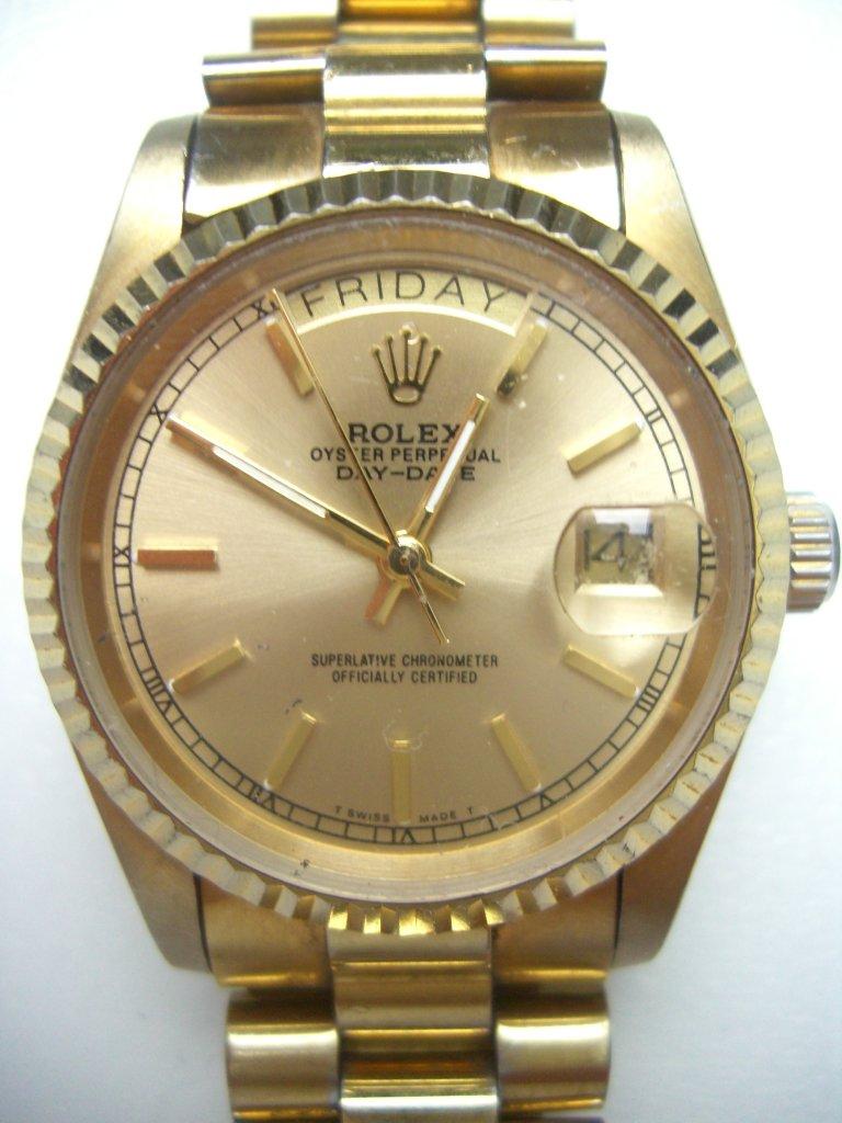 Uhrenbestimmung Rolex Oyster Perpetual Day Date 750 18K