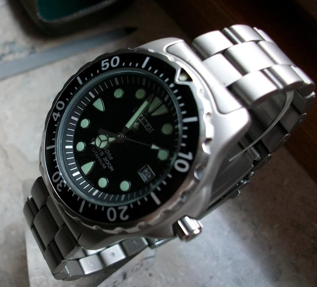 Erledigt citizen diver titanium eco drive uhrforum - Citizen titanium dive watch ...