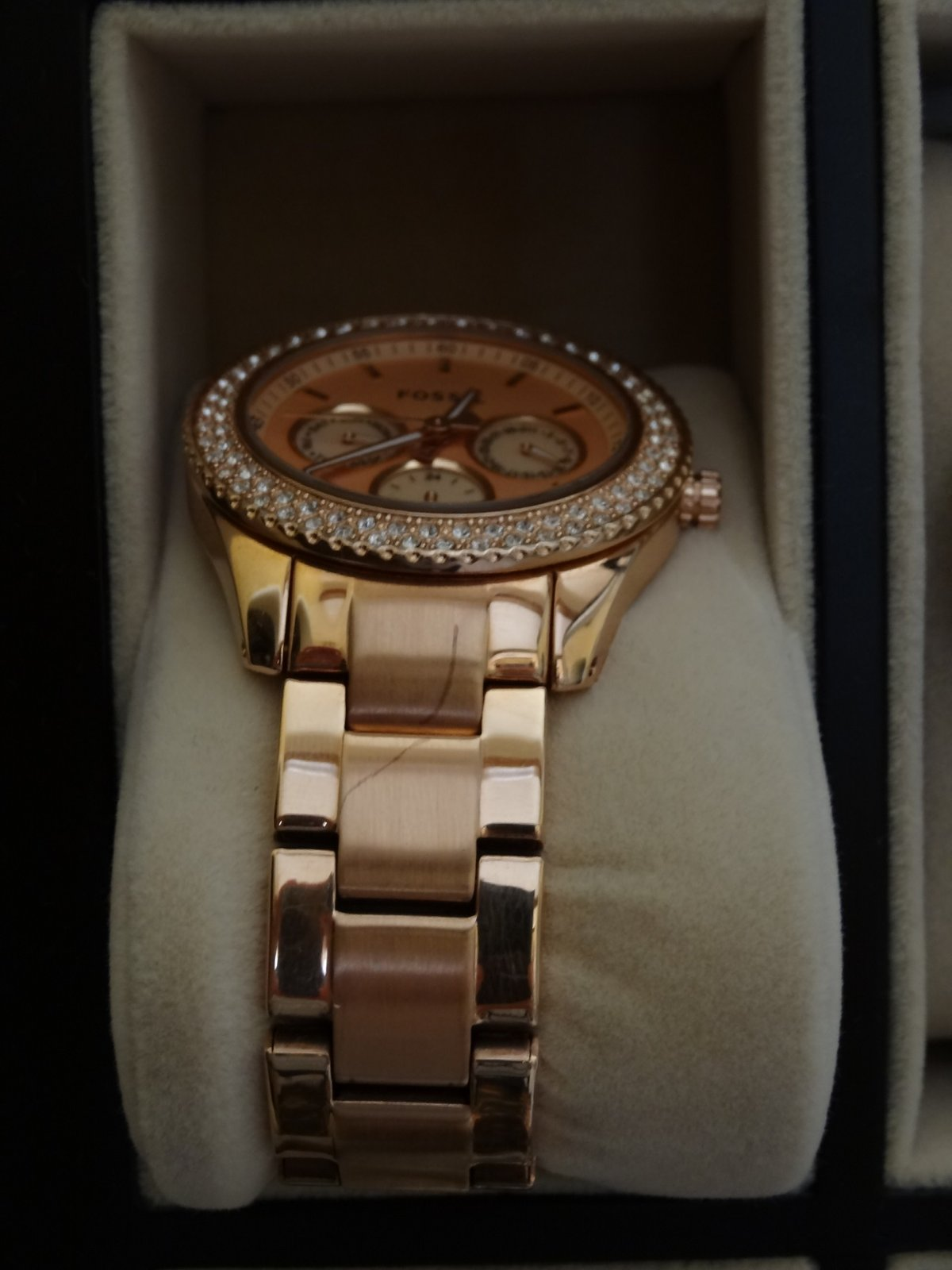 Damenuhren fossil rosegold  Erledigt] Fossil Damenuhr Rosé Gold - Chrono Stella ES3003 - UhrForum