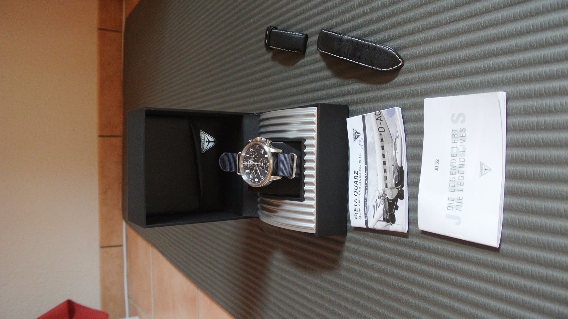 ErledigtJunkers Herren Armbanduhr Chronograph Tante Quarz Xl Ju 5jq3RLc4A