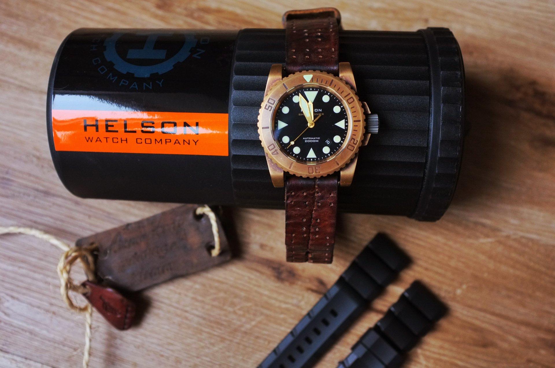 Verkauf] Helson Sharkdiver 45 mm Bronze ETA-Werk - UhrForum