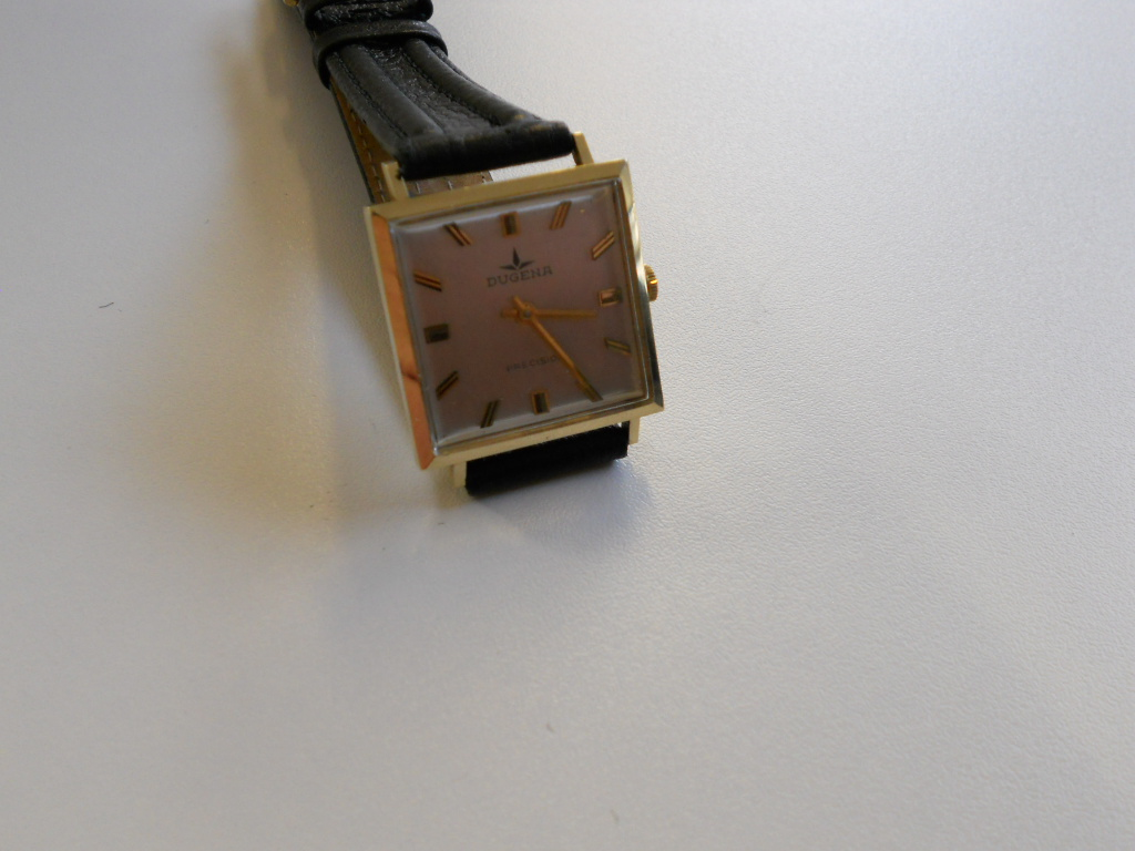 erledigt golduhr dugena precision karee vintage handaufzug gold 585 14 karat uhrforum. Black Bedroom Furniture Sets. Home Design Ideas