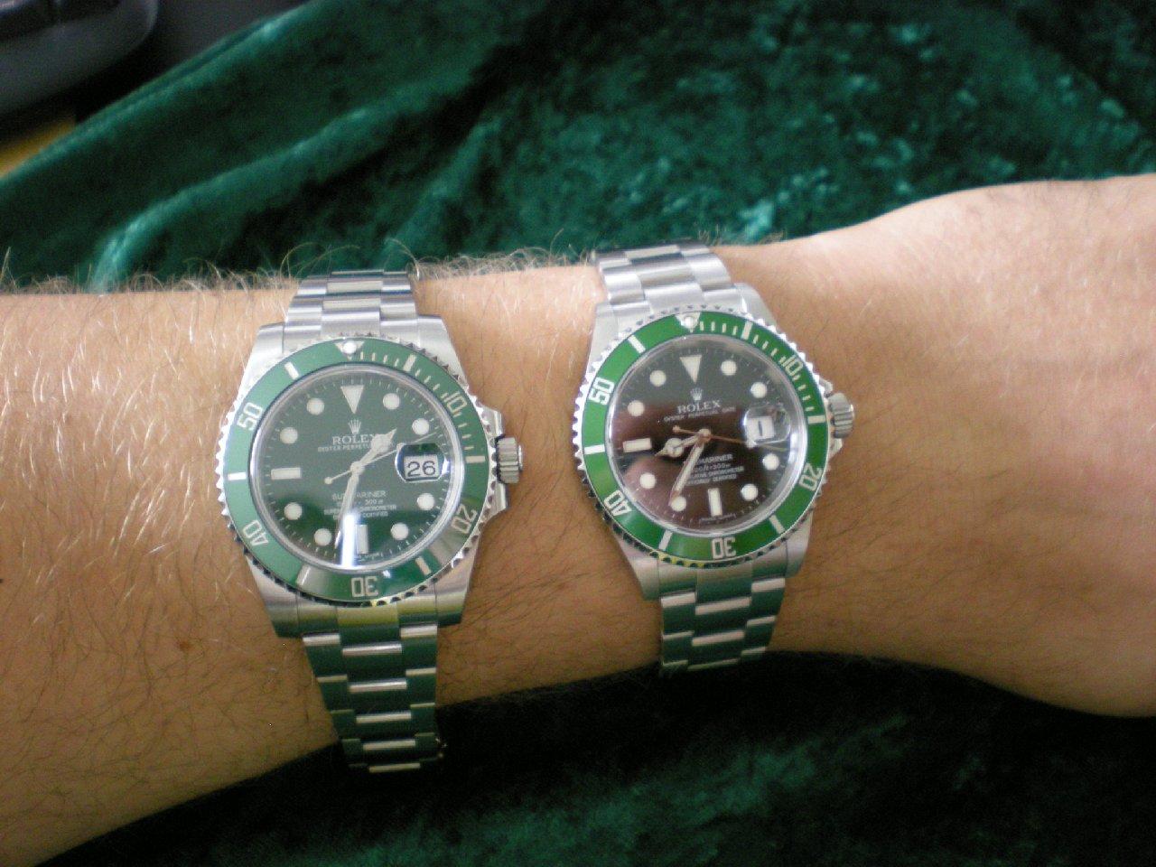 Rolex Quot Hulkmariner Quot Ref 116610lv Uhrforum