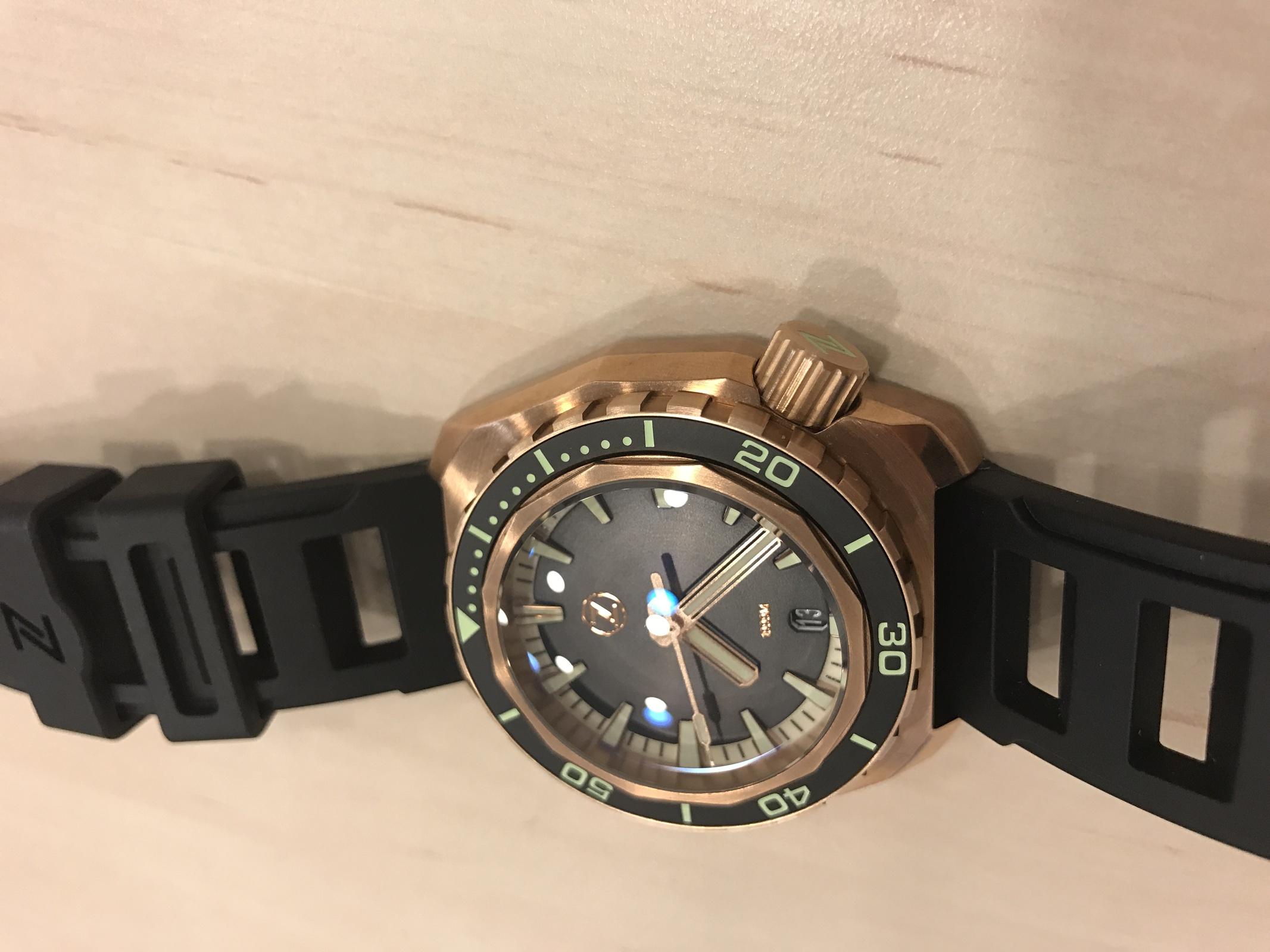 Kaufberatung Bronze-Uhr gesucht mit maximal 43mm Durchmesser ...