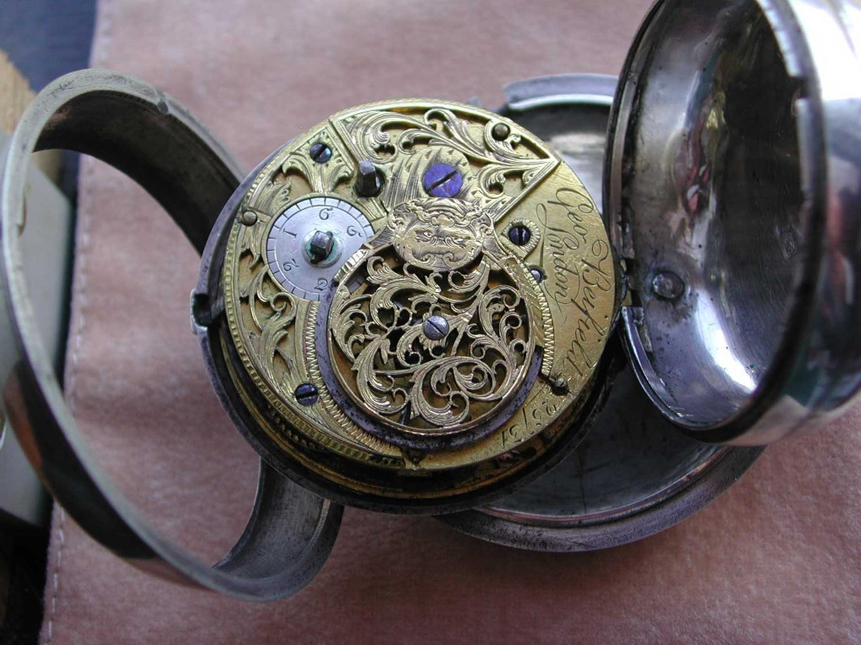 erledigt george beifield antike englische spindeluhr london aus dem jahre 1785 l uft. Black Bedroom Furniture Sets. Home Design Ideas