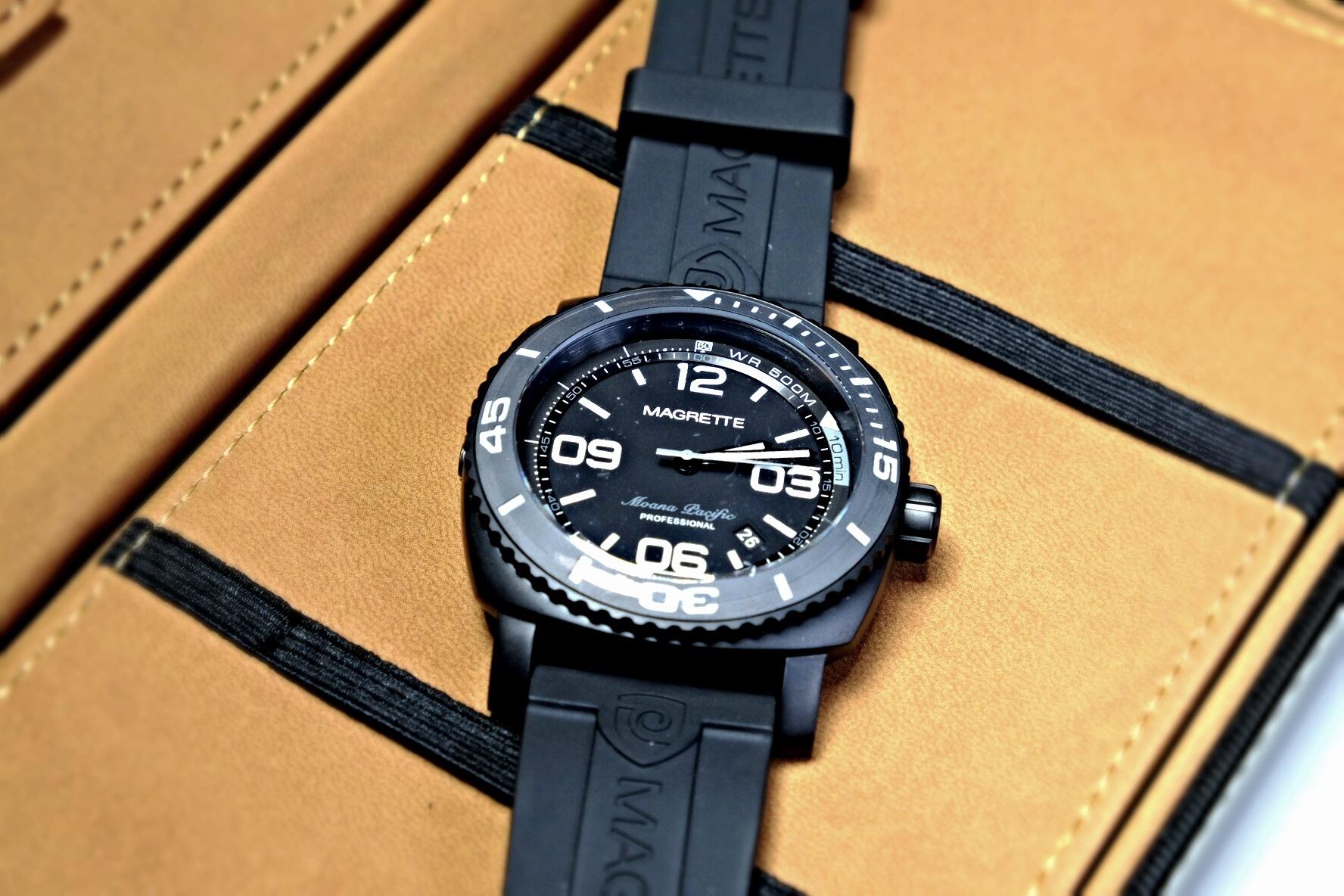 Kiwi Uhr Magrette Moana Pacific Pro All Black Uhrforum
