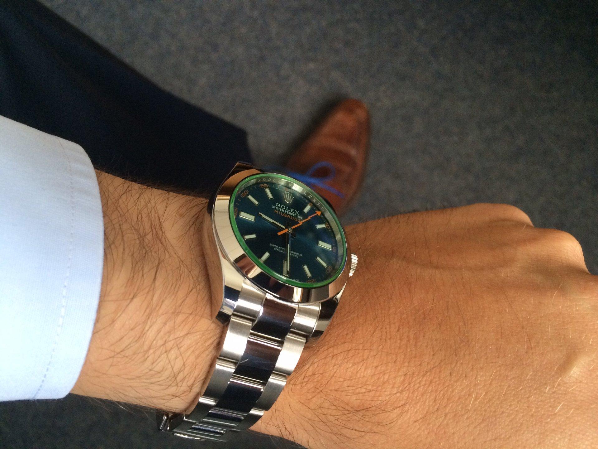 Rolex Milgauss 116400gv Z Blau Uhrforum Seite 3