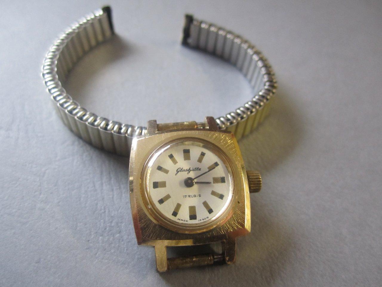 Uhrenbestimmung Alte Glashütte Damenuhr von Oma Gold