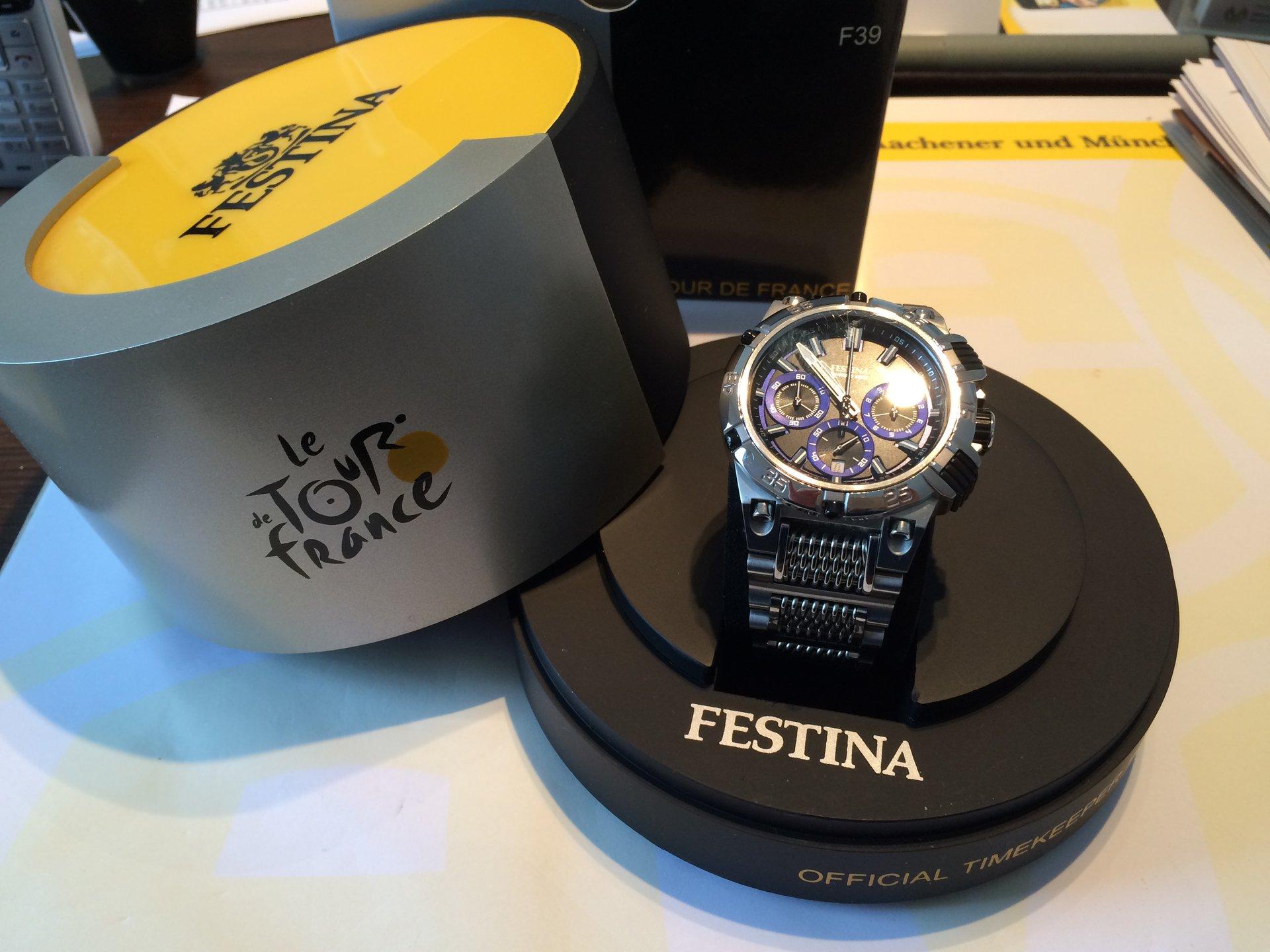 Festina chronograph herren armbanduhr schwarz f16565 4