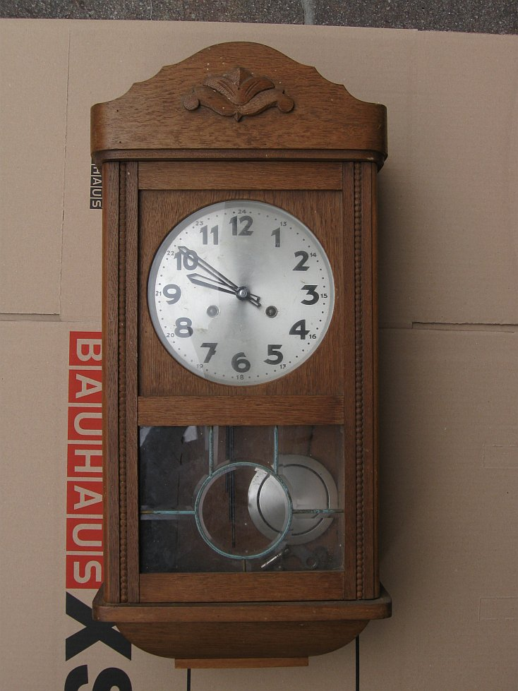 Uhrenbestimmung antike wanduhr vom flohmarkt uhrforum - Antike wanduhren ...