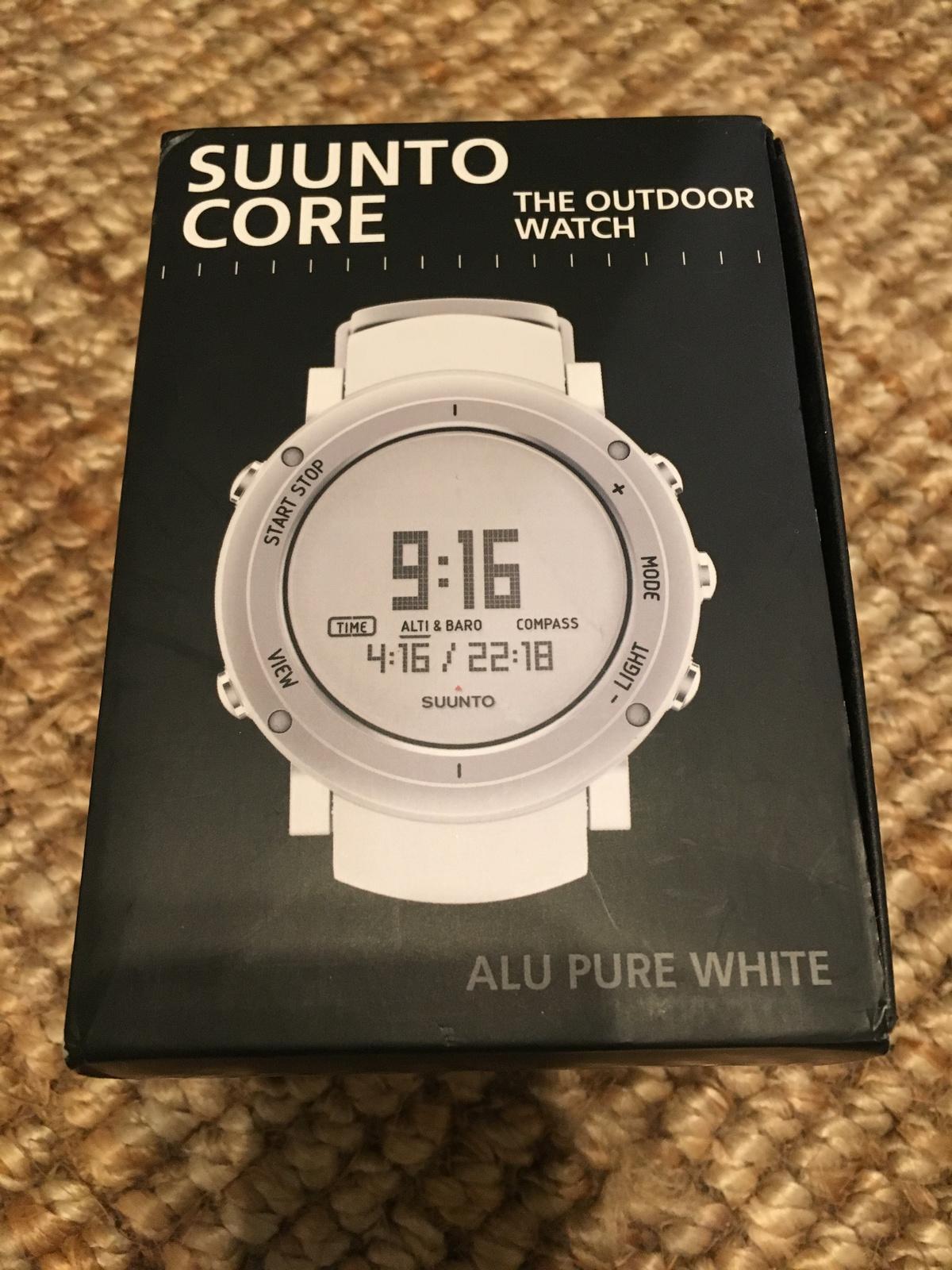 Verkauf Tausch Suunto Core Pure White Alu Ovp Outdoor Uhr Gps Watch Digital Img 0690