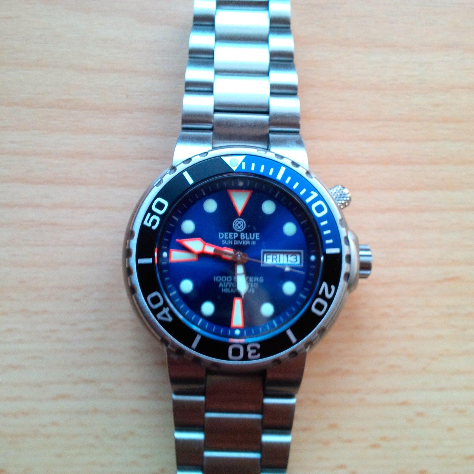 Erledigt deep blue sun diver iii blau 1000 m automatic - Dive deep blue ...