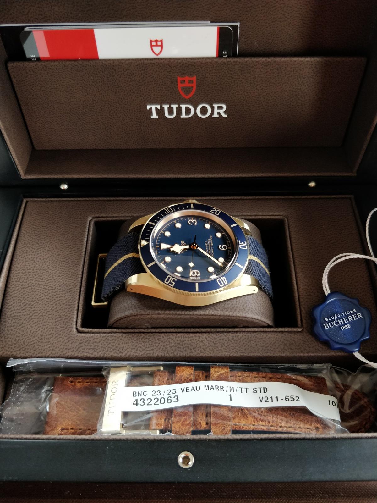 Tudor Black Bay Bronze Blue Bucherer Edition LC100 Ref. 79250BB ...