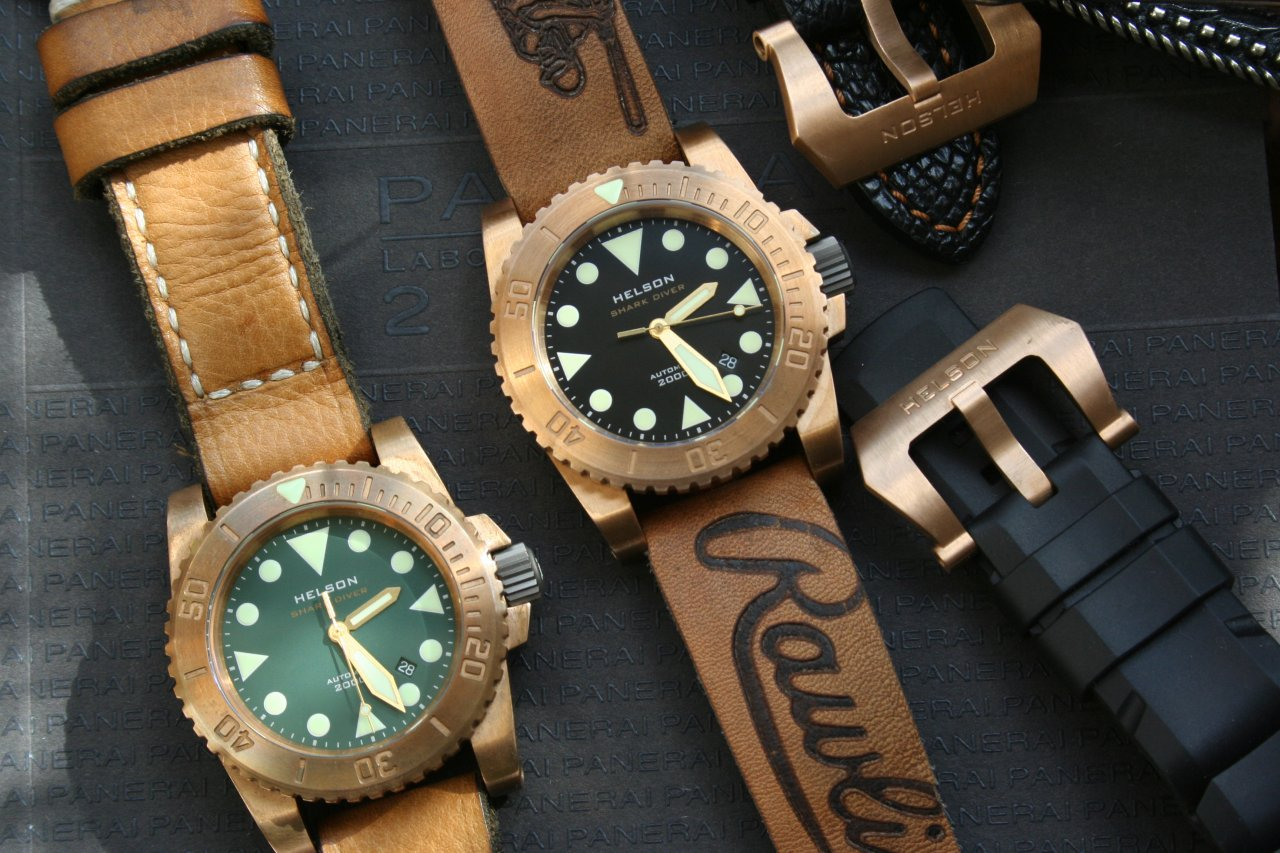 New armida a8 afforadble brass sub homage - Bronze dive watch ...