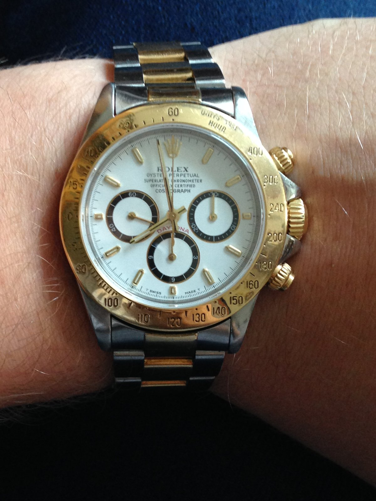 rolex daytona 16523 stahl gold uhrforum. Black Bedroom Furniture Sets. Home Design Ideas