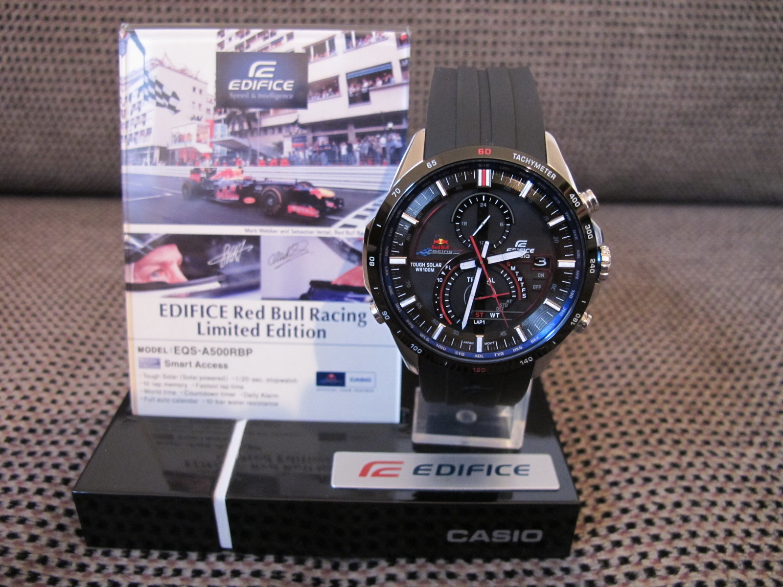 erledigt casio edifice eqs a500rbp red bull racing. Black Bedroom Furniture Sets. Home Design Ideas