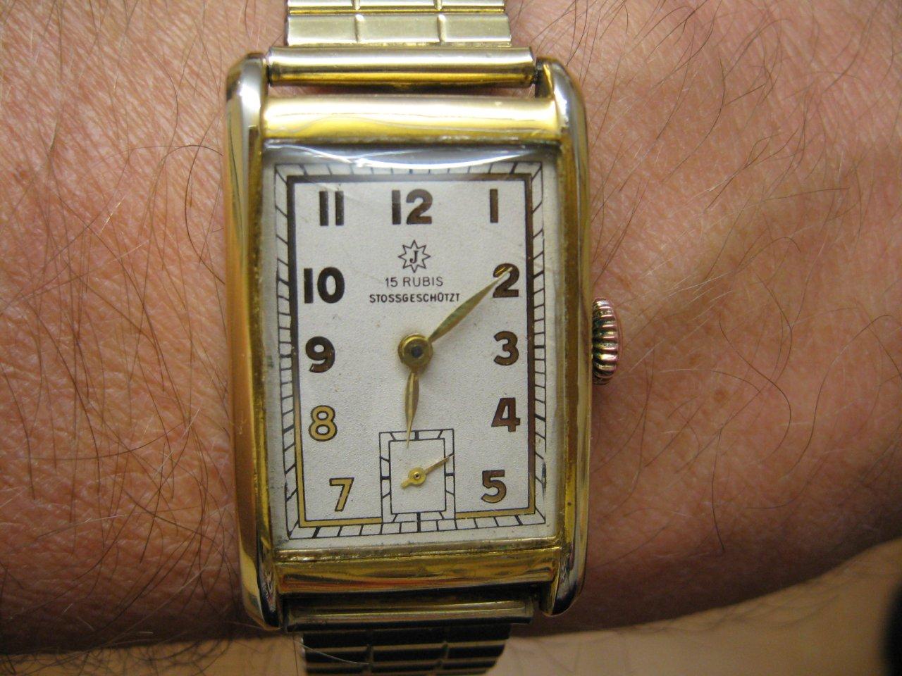 Rubis 15 Uhrenbestimmung Rechteckige Junghans Stossgeschützt PXOkiZu