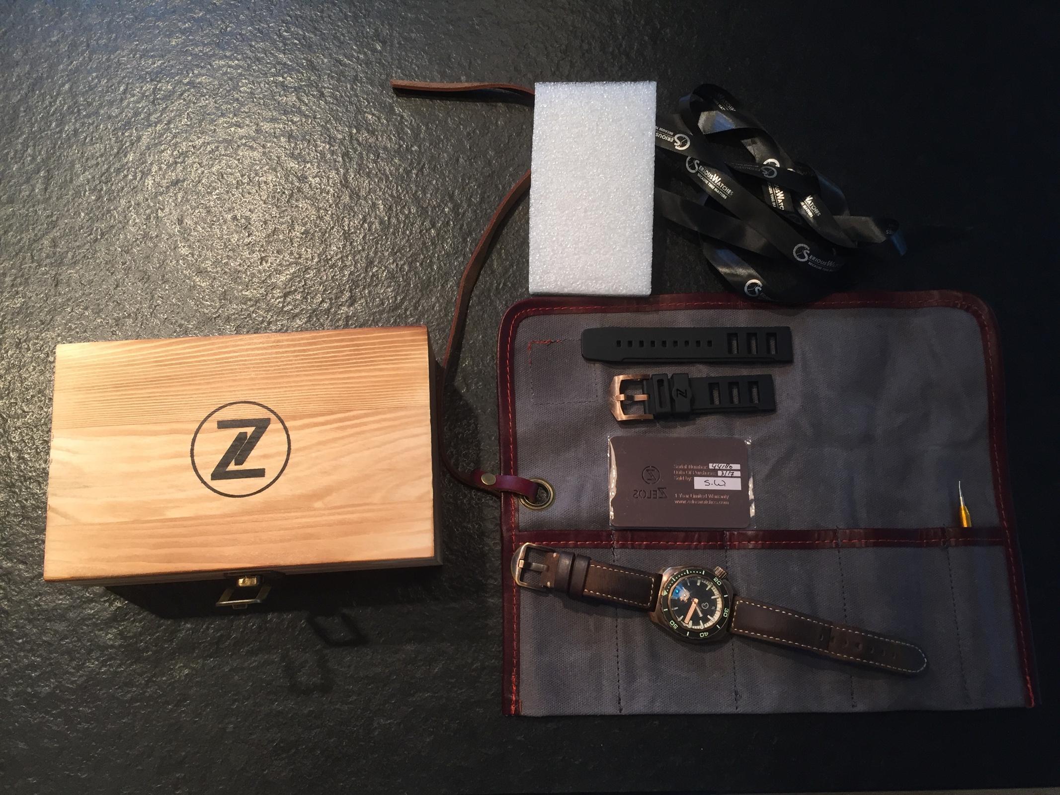 Erledigt] Zelos Hammerhead Bronze Meteorit Keramik Lünette Limited ...