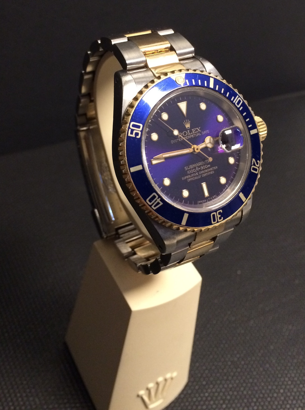 verkauf tausch rolex submariner 16613 stahl gold blau. Black Bedroom Furniture Sets. Home Design Ideas