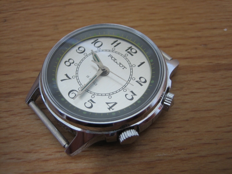 erledigt verkaufe poljot armbanduhr mit wecker handaufzug nos uhrforum. Black Bedroom Furniture Sets. Home Design Ideas