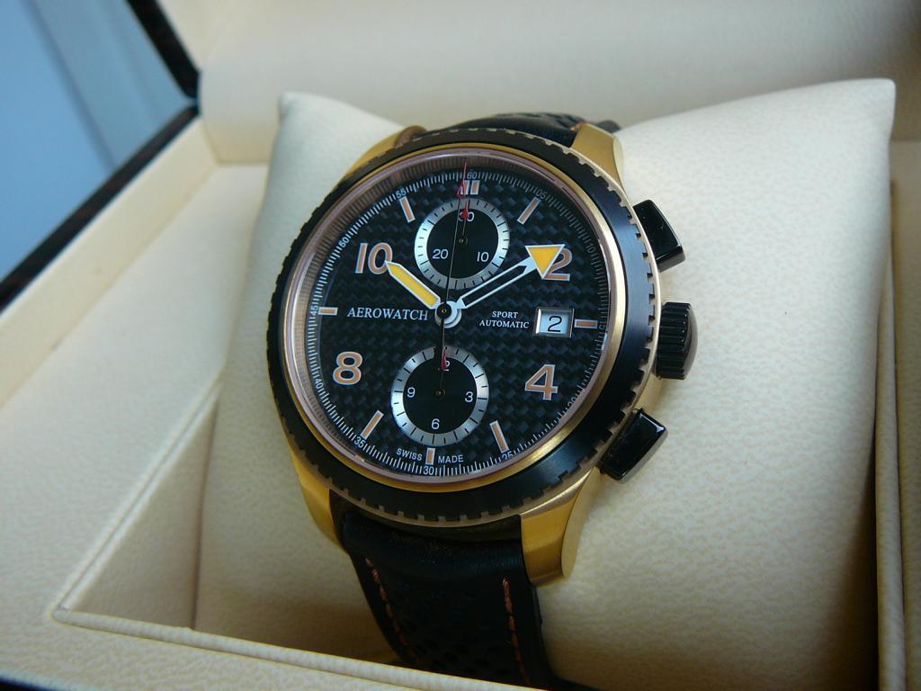 erledigt aerowatch aeroplan sport automatic chronograph ros gold schwarz carbon uhrforum. Black Bedroom Furniture Sets. Home Design Ideas