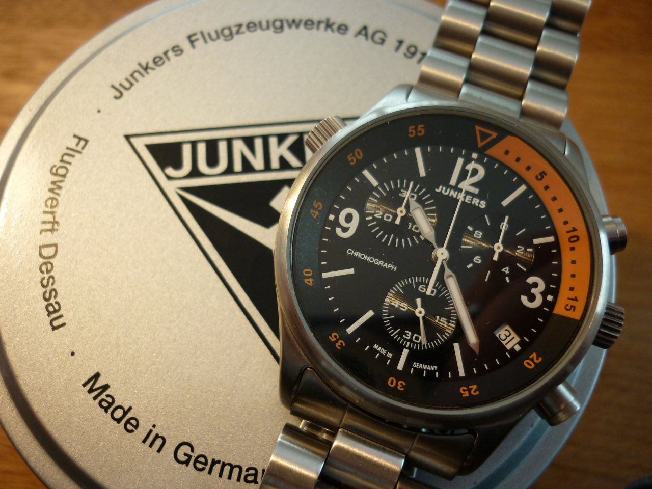 erledigt junkers chronograph cockpit ju 52 uhrforum. Black Bedroom Furniture Sets. Home Design Ideas