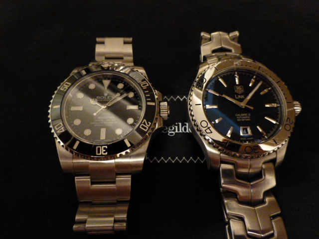gr e an captain flam submariner 114060 tag heuer link. Black Bedroom Furniture Sets. Home Design Ideas