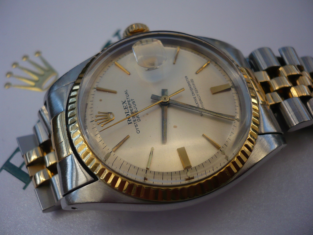 erledigt rolex datejust 1601 stahl gold aus 1965. Black Bedroom Furniture Sets. Home Design Ideas