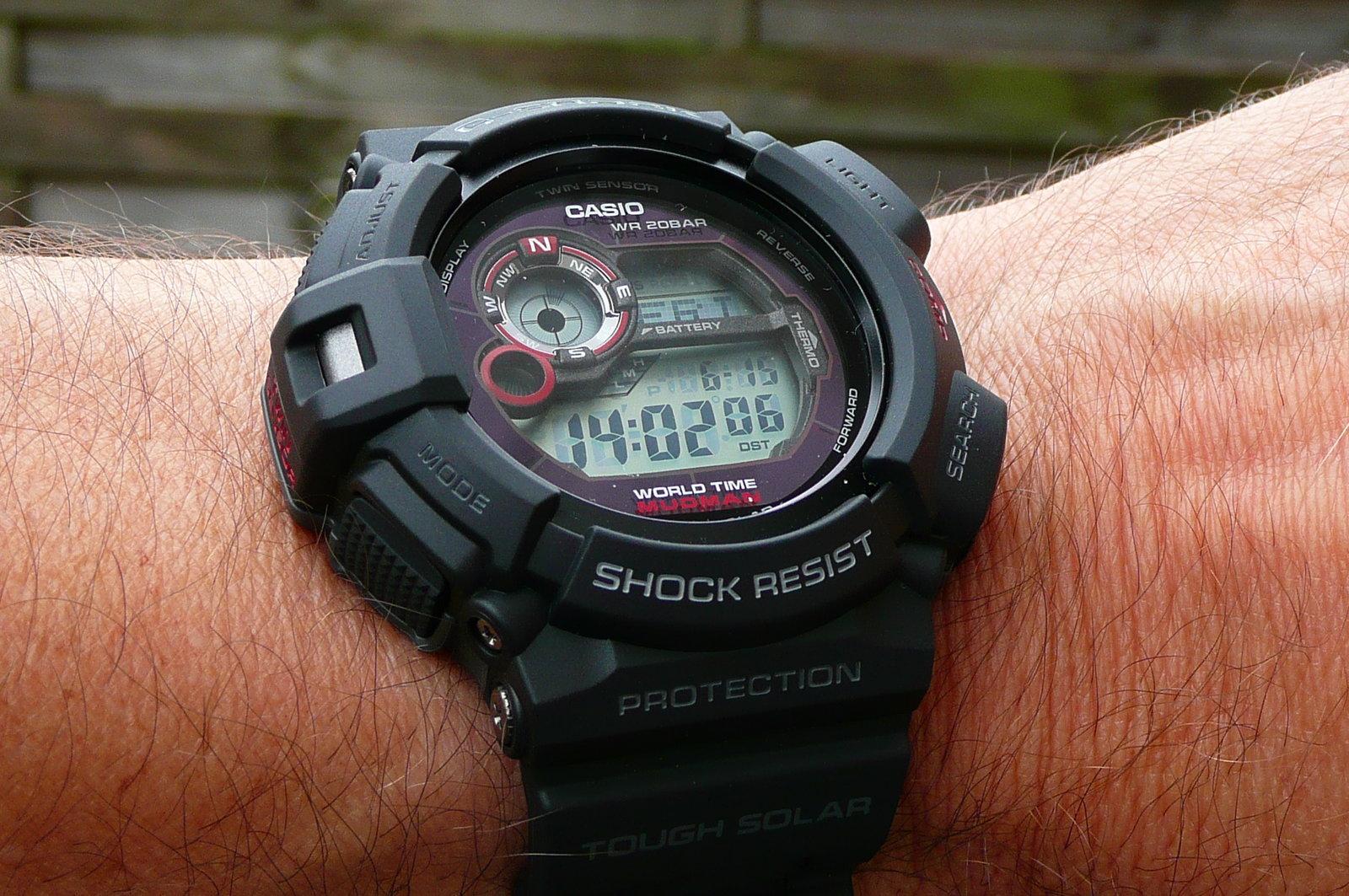 [Reserviert] Casio Uhr G-9300-1ER G-Shock Mudman, Solar, Thermometer, Kompass, Mondphase ...