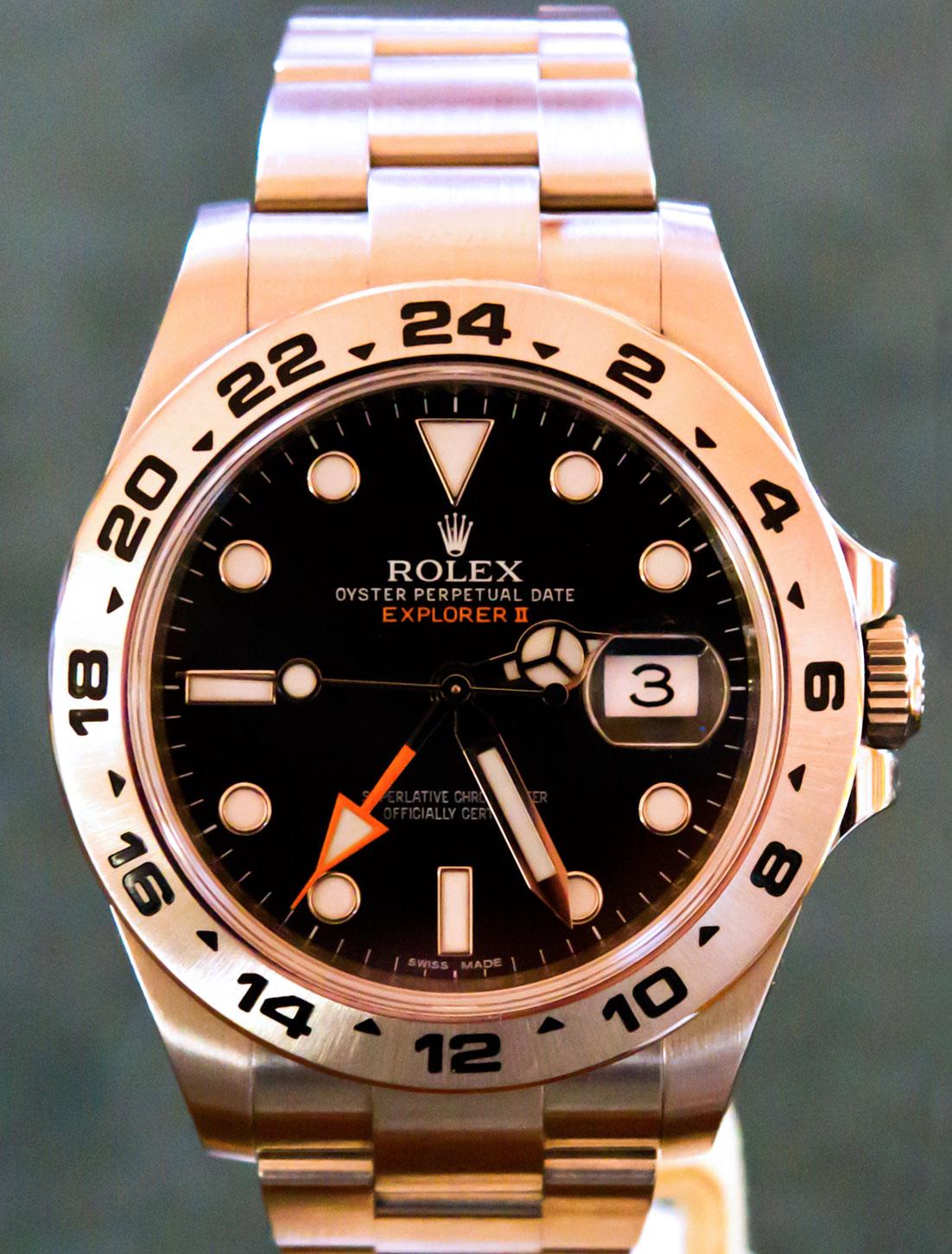 """Rolex Explorer Kaufen >> Umbau Explorer II 16750 WD auf """"orange hand"""" GMT-Zeiger - UhrForum"""
