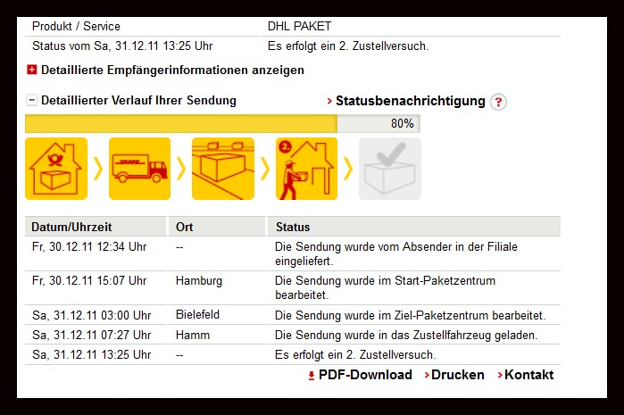 dhl sendungsverfolgung probleme tracking support. Black Bedroom Furniture Sets. Home Design Ideas