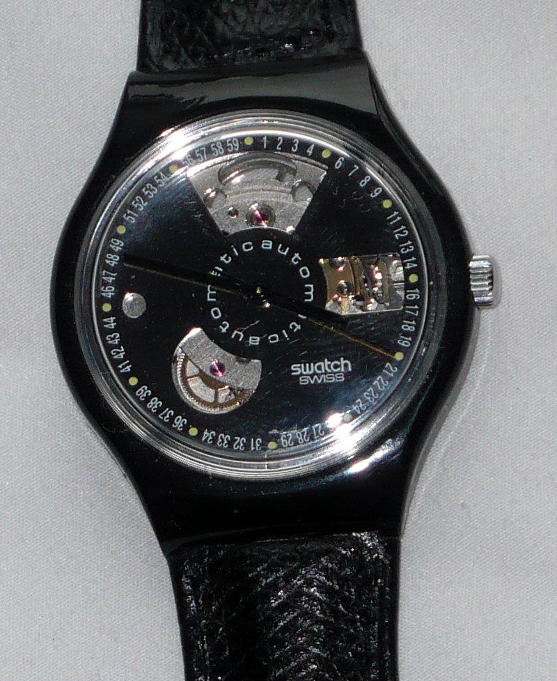 Verkauf Tausch Swatch Automatik Black Motion Nos Mit