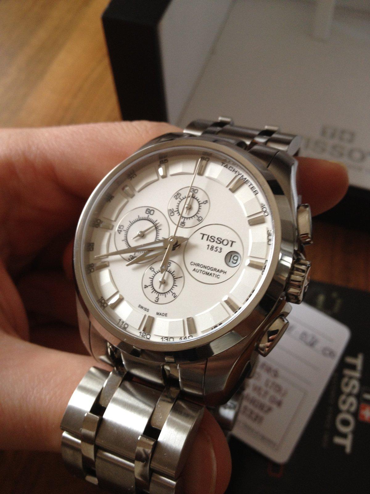 [Reserviert] Tissot Couturier Automatic Chronograph weiß