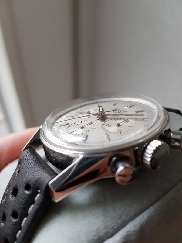 Erledigt] - Heuer Carrera CS3110 mit frischem Service (Re-Edition